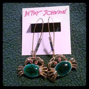 Betsey Johnson Crab Earrings